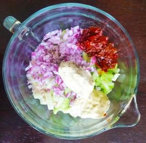 chicken salad prep